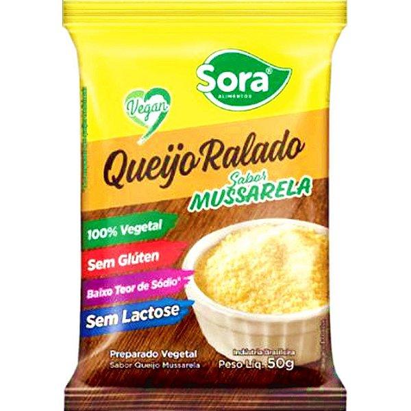 Queijo ralado vegetal sabor mussarela 50g - Sora