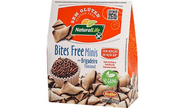 Bites Free Minis Brigadeiro Funcional Sem Glúten 70g - Kodilar