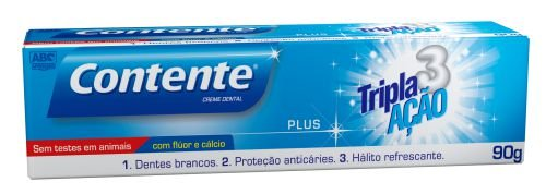 Creme Dental Contente Plus 90g - Contente