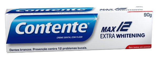 Creme Dental Contente Max 12 Extra Whitening 90g - Contente