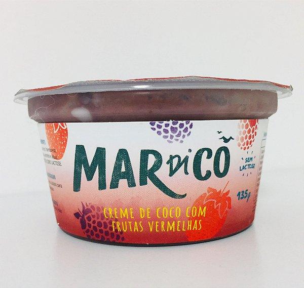Creme De Coco De Frutas Vermelhas 135g - Mardicô