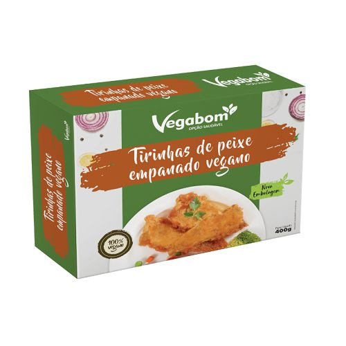 Tirinha De Peixe Empanado Vegano 300g - Vegabom