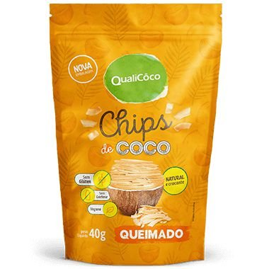 Coco Chips Queimado 40g - Qualicoco