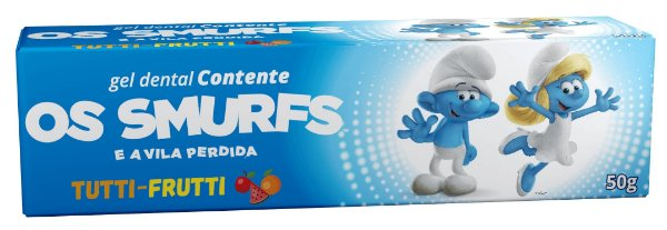 Gel Dental Smurfs Tutti Frutti 50g - contente