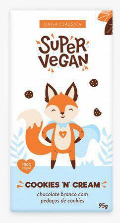 Chocolate branco cookies 'n' cream 95g - Super vegan