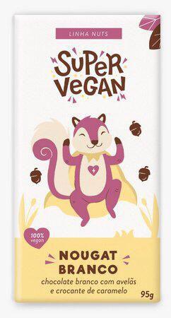 Chocolate Nougat Branco 95g - Super vegan