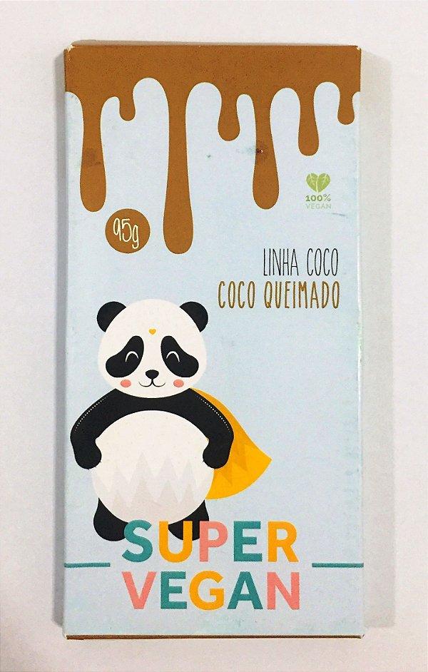 chocolate branco com coco queimado linha coco 95g - Super vegan