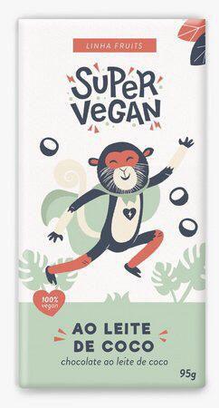 Chocolate ao leite de coco 95g - super vegan