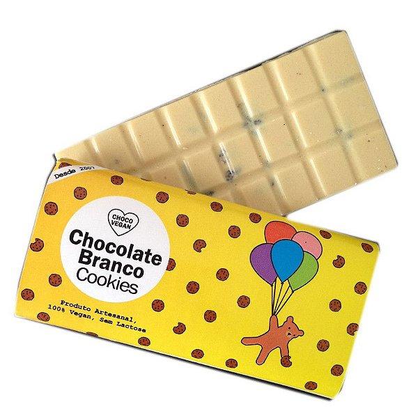 Chocolate Branco com Cookies 50g - Choco Vegan
