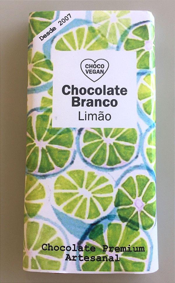 Chocolate Branco com limão 50g - chocovegan