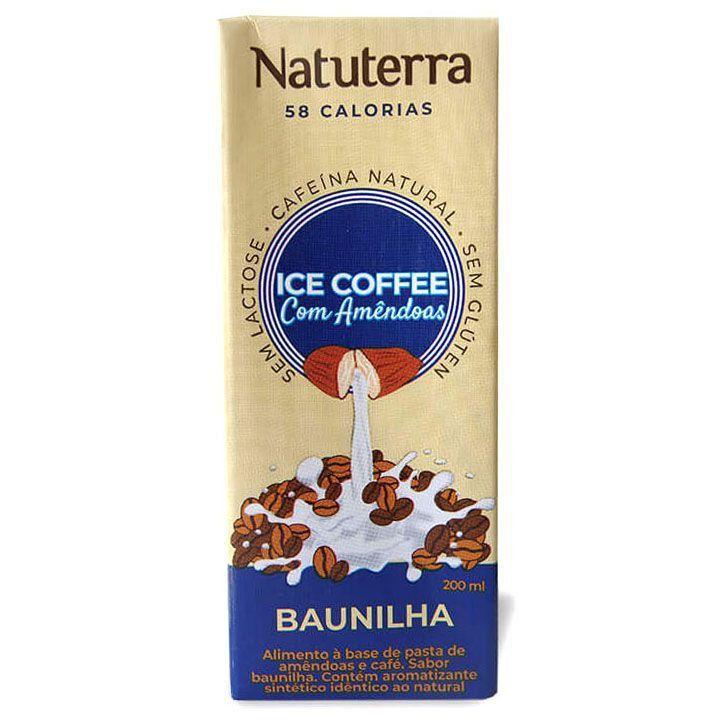 Café Gelado com Bebida de Amêndoas Sabor Baunilha 200ml - NATUTERRA