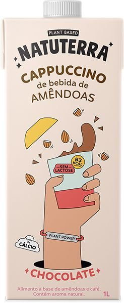 Cappuccino de Bebida de Amêndoas Sabor Chocolate 1L - NATUTERRA