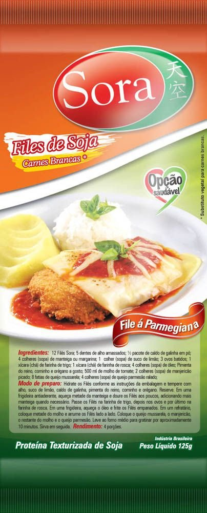 Filé Vegetal Sabor Carne Branca 125g - Sora