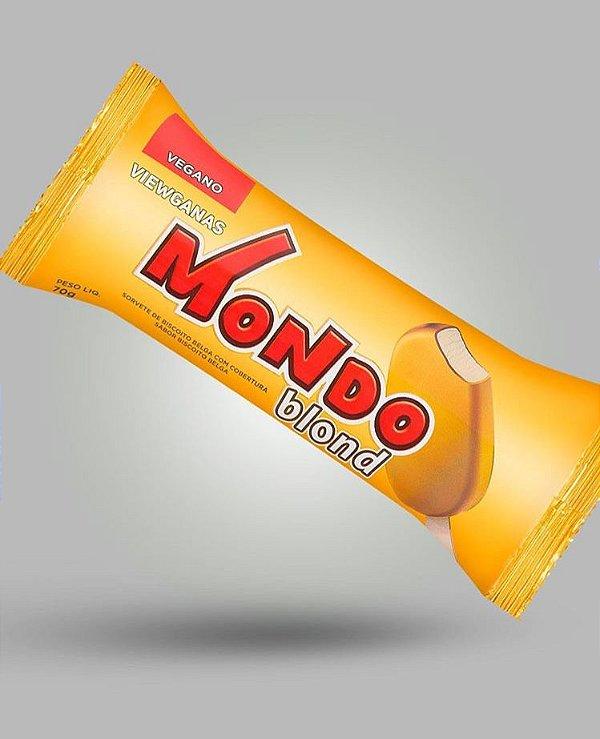Picolé Blond Biscoito belga 70g - Mondo