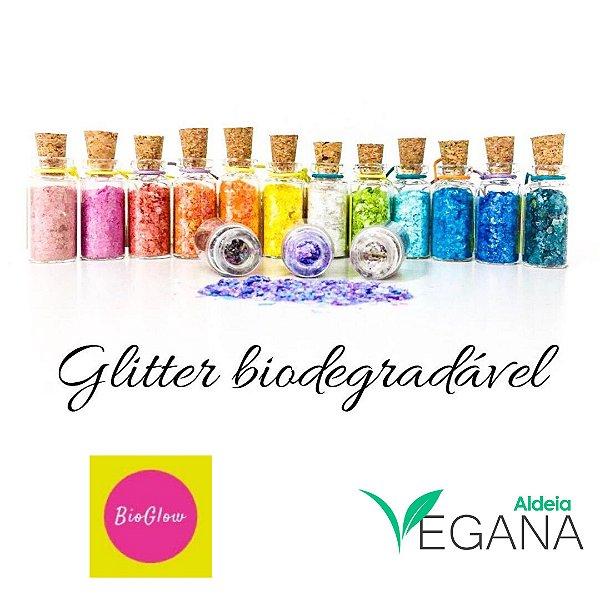 Glitter biodegradável 3mL - BioGlow - Cores 10 a 18