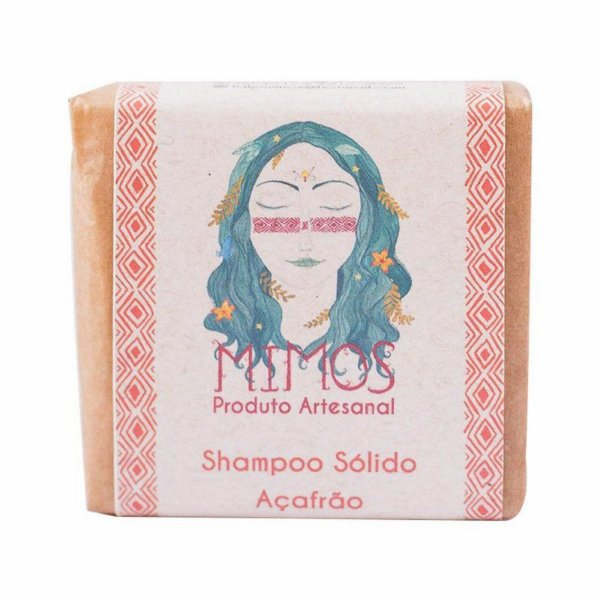 Shampoo sólido de Açafrão 100g - Mimos Naturais