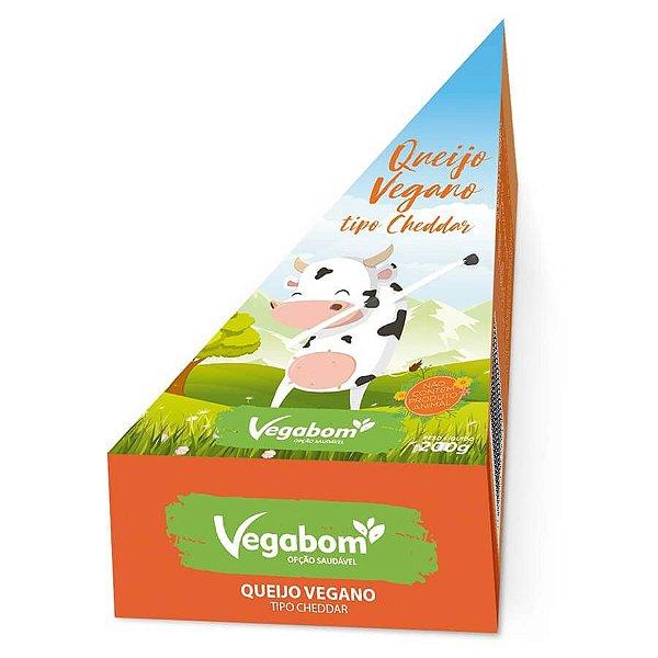 Queijo vegano tipo cheddar 200g - Vegabom
