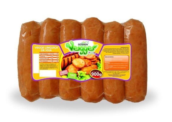 Linguiça de soja veggie 900g - Goshen