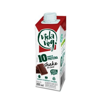 Shake 10 PRO coco e chocolate 250mL - Vida Veg