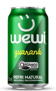 Refrigerante Wewi Guaraná Orgânico Lata 350ml - Wewi