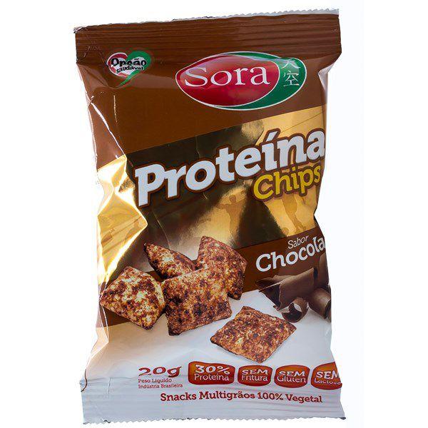 Proteína Chips Chocolate 20g - Sora