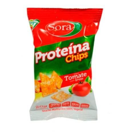 Proteína chips tomate com ervas 20g - Sora