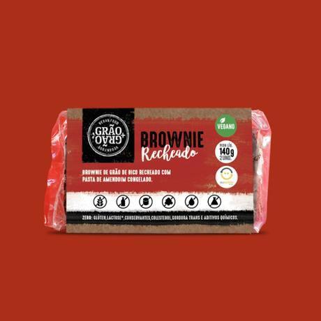 Brownie recheado 140g - Grão+Grão