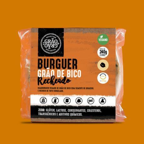 Burger de grão de bico recheado 240g - Grão+Grão