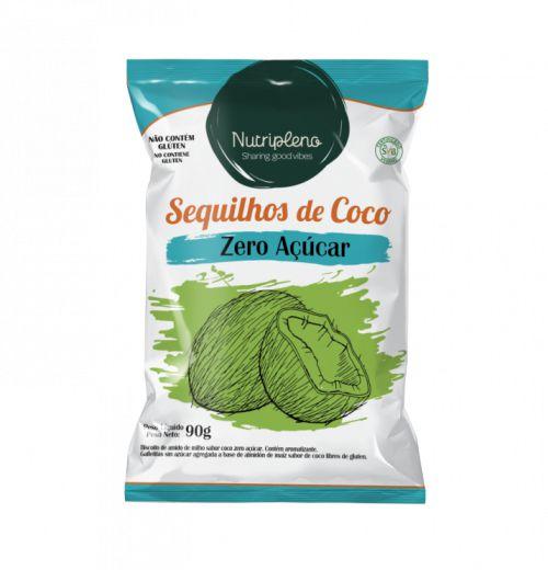 Sequilhos de coco zero açúcar 90g - Nutripleno