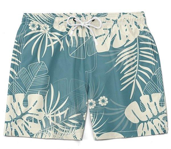 Short Praia bermuda florido moda verão litoral ney