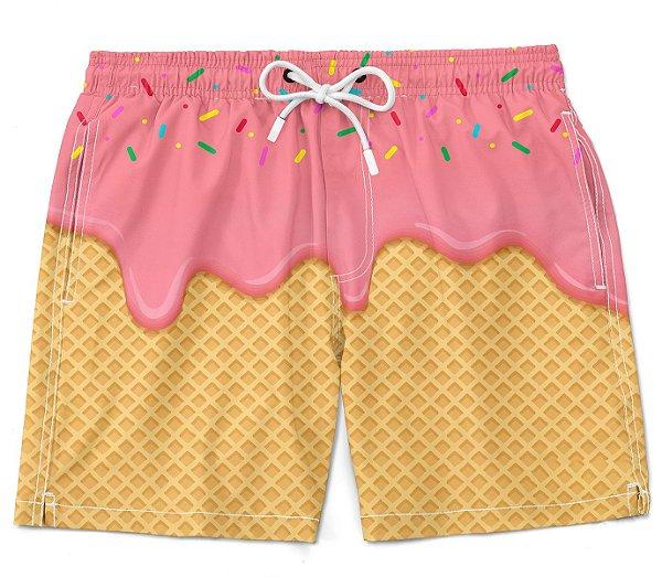 Short Praia bermuda sorvete tumblr moda verão summer