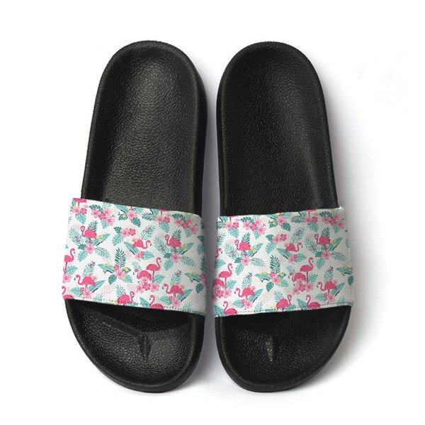 Chinelo flamingo floral slide benassi feminino sandália