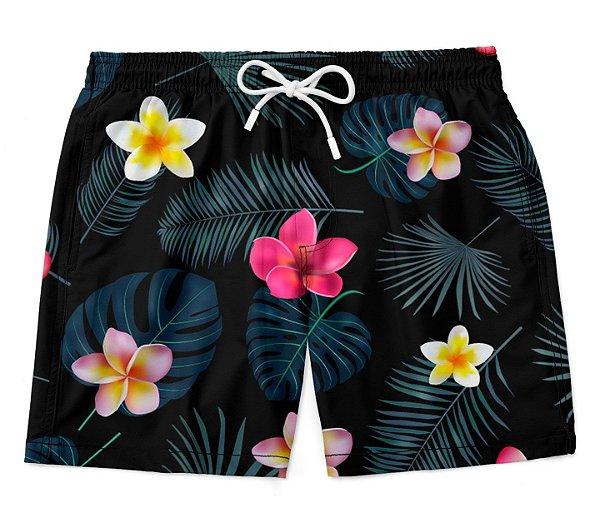 Short Bermuda Little Flowers
