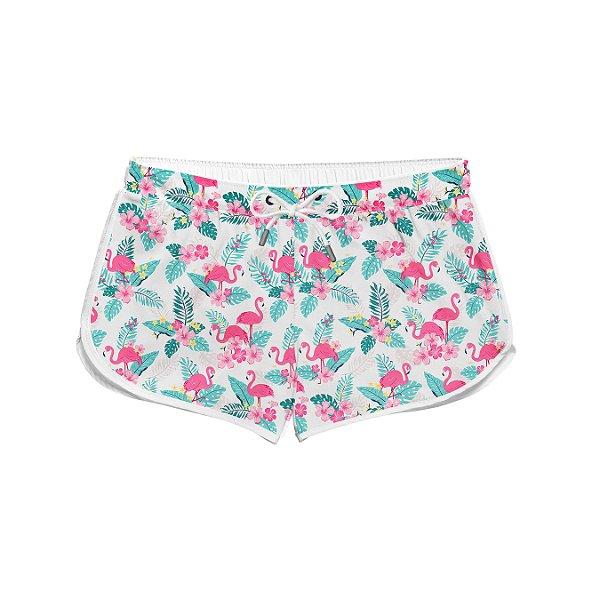 Short Feminino Verão Flamingos