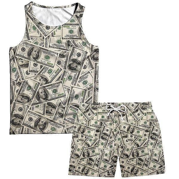 Kit Regata e Short Masculino Dólar Money