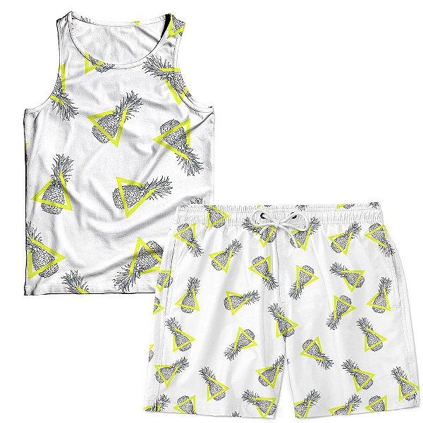 Kit Regata e Short Masculino Pineapple