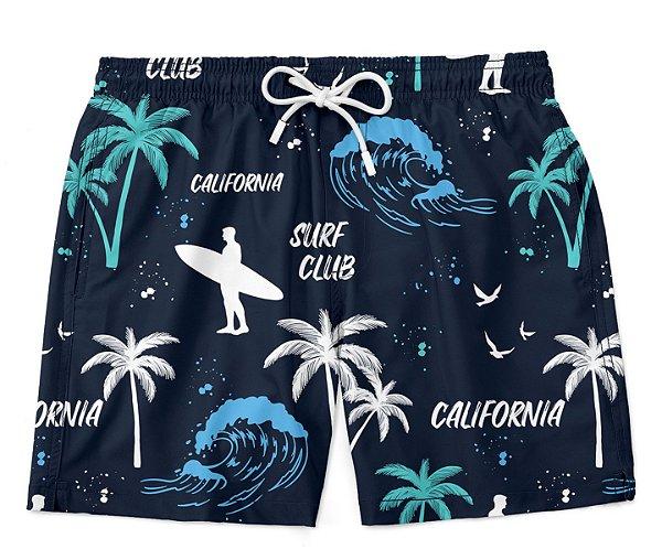 Short Praia Verão Surf Club California