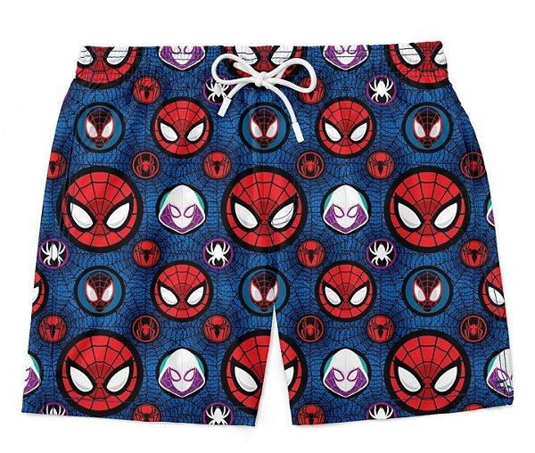 Short Praia Verão Spider Man