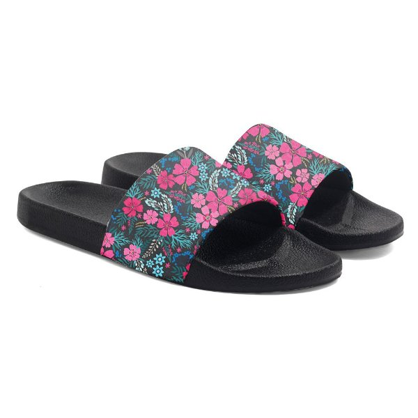 Chinelos Slide Benassi Unissex Tropical Floral