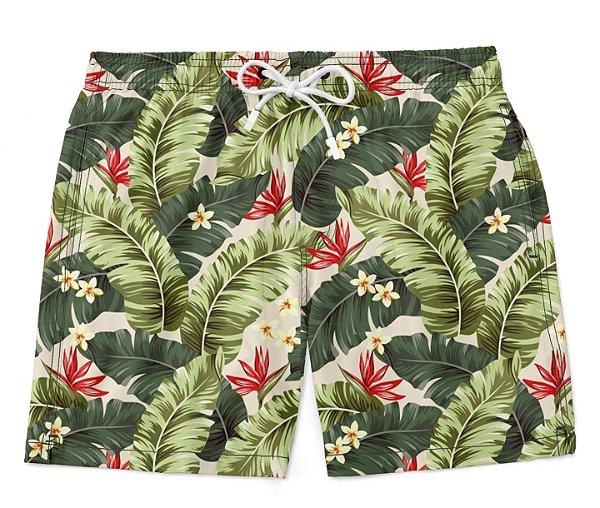 Short Bermuda Estampa Tropical Summer