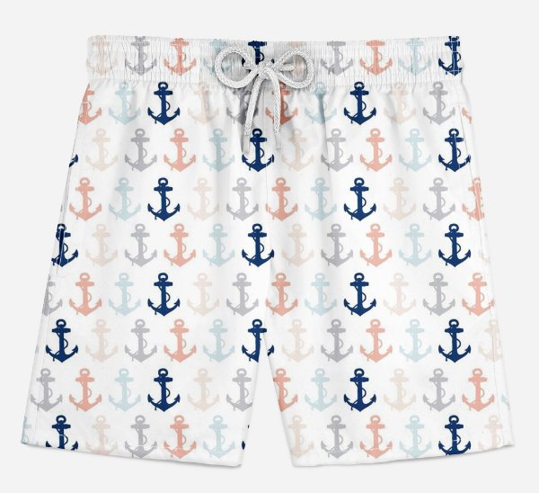 Short Praia Infantil Anchor