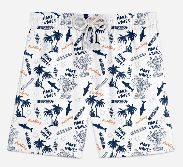 Short Praia Infantil Wake Wave Surf