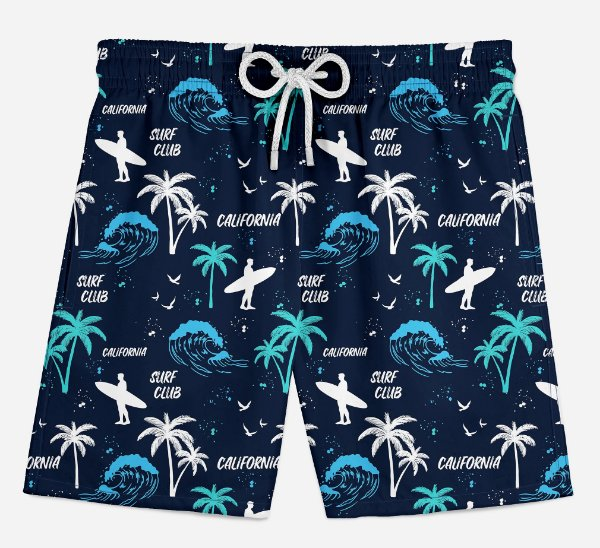 Short Praia Infantil California Surf Club