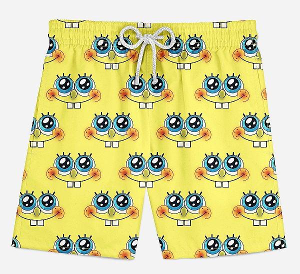 Short Praia Infantil Square Pants