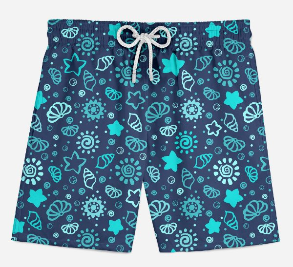 Short Praia Infantil Fundo do Mar