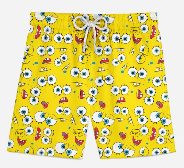 Short Praia Infantil Sponge Bob