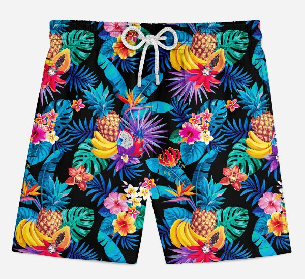 Short Praia Infantil Summer Fruits