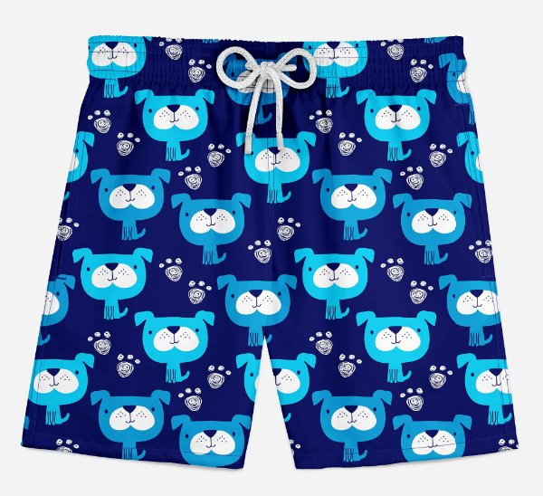 Short Praia Infantil Dog