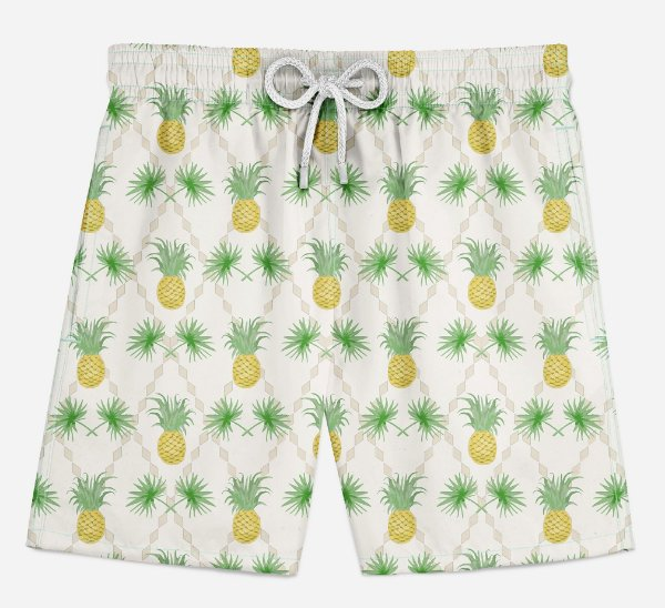 Short Praia Infantil Basic Pineapple