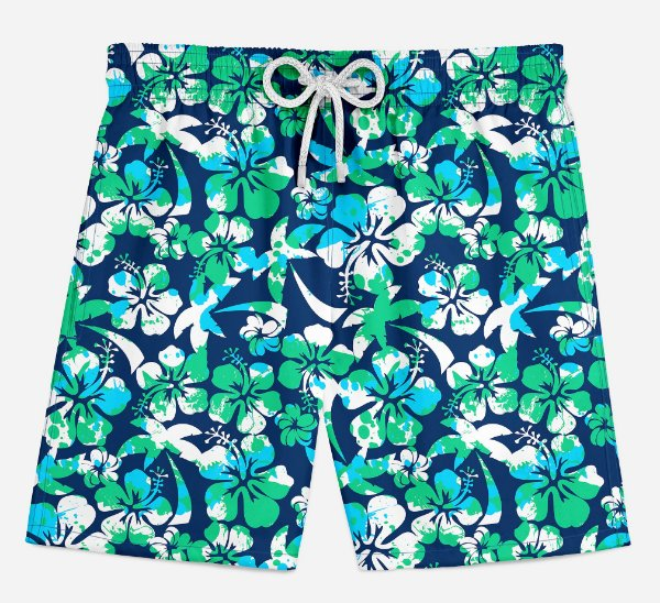 Short Praia Infantil Tropical Beach